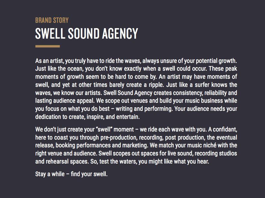 Swell Sound Brand Identity